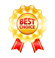 Best choice gold label vector image