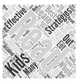 Effective teaching strategies Word Cloud Concept vector image