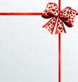 Festive ribbons and bow vector image