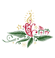 Fir with candle vector image