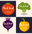 fresh vegetables background for menu or poster vector image