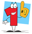Number One Cartoon Character vector image