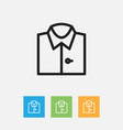 of shopping symbol on shirt vector image