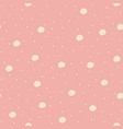 seamless pattern with big bubbles and dots vector image
