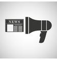 megaphone speaker news icon graphic vector image