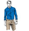 Fashion man vector image