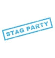 Stag Party Rubber Stamp vector image