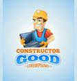 set of builders or handymans in action vector image