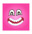 frisky smiley face icon vector image