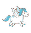 beautiful horse pony wings foal toy vector image