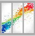 set banners splash colored round element vector image vector image