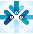 number arrows vector image vector image
