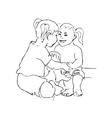 Happy kid cartoon doodle vector image