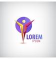 Man human leader logo icon vector image