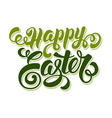 Easter calligraphy vector image vector image