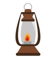 lantern with flame  graphic vector image
