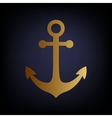 Anchor sign Golden style icon vector image