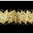 background of gold sparkles vector image