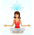 Beautiful brunette girl in meditation position vector image