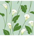 Calla lily pattern vector image