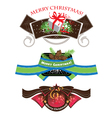 Christmas labels set elements vector image