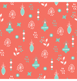 christmas seamless pattern pink blue vector image
