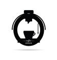 coffee machine drink black icon vector image