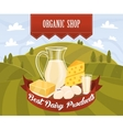 Dairy products vector image