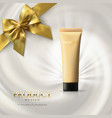 foundation cream packaging design vector image