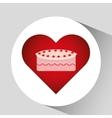 heart cartoon sweet cake strawberry icon design vector image