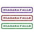 niagara falls watermark stamp vector image