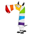 Number seven Made of colorful animal cartoon vector image