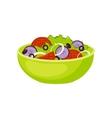 Fresh Salad Breakfast Food Element Isolated Icon vector image