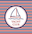 Yacht Club background in format vector image