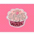 make cupcakes not war vector image vector image