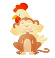 Rooster and monkey as Chinese zodiac symbols vector image vector image