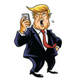Donald Trump and Social Media Cartoon vector image