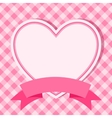 pink frame with heart for invitation card vector image