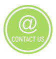 email address flat icon contact us and website vector image