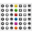 Set web buttons with icons vector image
