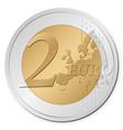 2 euro coin vector image