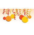 orange balloon banner vector image vector image