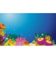 Underwater scene vector image vector image