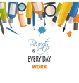 Beauty and cosmetic typographic background vector image
