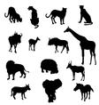 African Safari Animals Set vector image