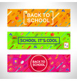 back to school horizontal banners set vector image