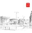 Hand drawn City Street vector image