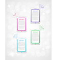 infographics with phones or tablets vector image