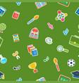 school green seamless pattern vector image