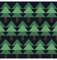 seamless pattern with green fir-tree vector image